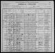 1900 US census - Waupaca, Waupaca County, Wisconsin - Lizzie Ballard, widow and three children