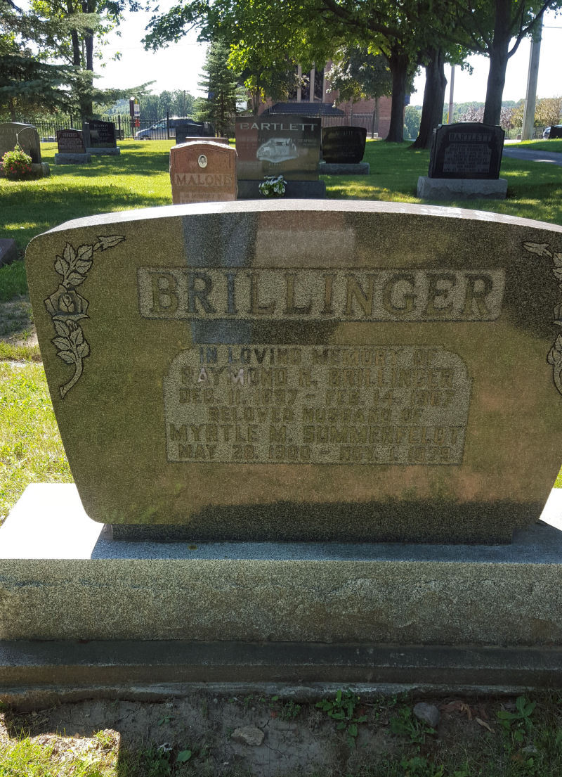 BRILLINGER, Raymond H. and Myrtle M. SUMMERFELDT
