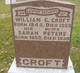 CROFT, William G. and Sarah PETERS