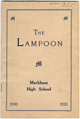 Editorial Section of 'The Lampoon' - 1930 Year book of Markham High School