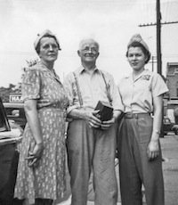Anna (March) Wurm, John T. Fogas, Maryjane Wurm; Indianapolis Indiana, about 1942