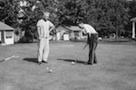 Albert Sr and Albert Jr (Bud) playing golf at Burroughs Farms, Michigan about 1939